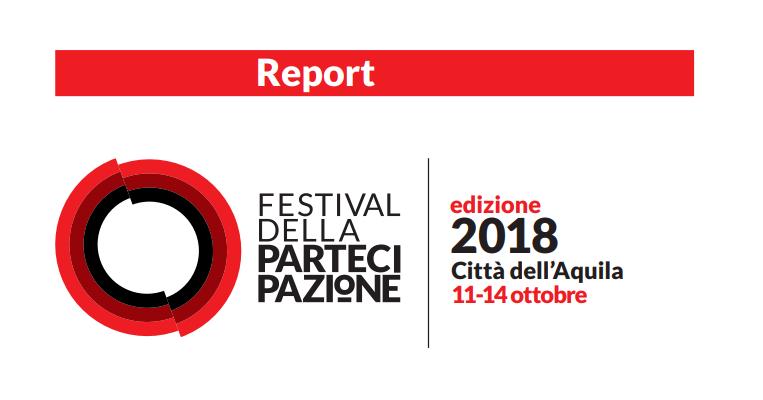 Report - Festival della Partecipazione 2018